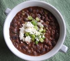 Суп с чёрной фасолью