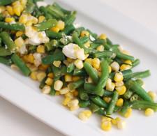 Стручковая фасоль с кукурузой