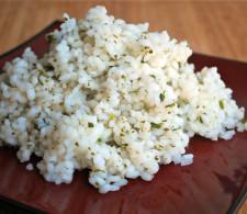 Рис с кинзой