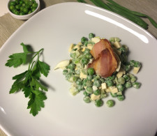 Салат из зелёного горошка