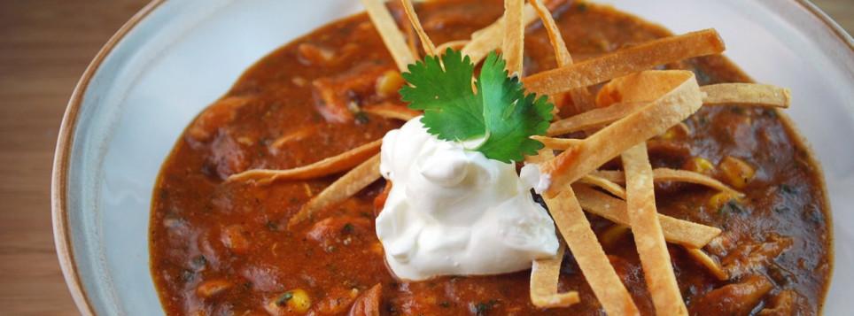 Куриный суп с тортильей