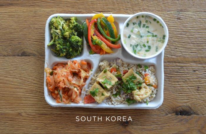Южнокорейский обед