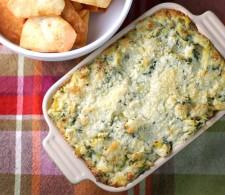 Запеканка 5 сыров с артишоками и шпинатом